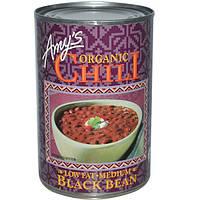 Amys, Органический чили, черные бобы, средний, 14,7 унций (416 г)