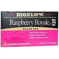 Bigelow, Черный чай, малина Royale, 20 пакетиков, 1,18 унции (33 г)