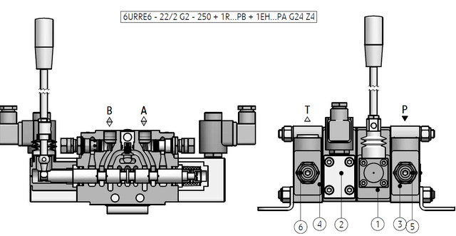 6-позиционный распределительный клапан тип 6URRE6