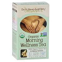 Earth Mama Angel Baby, Органический полезный чай для завтрака, успокаивающий имбирь и мята, без кофеина, 16 чайных пакетиков, 1,3 унции (37 г)