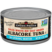 Crown Prince Natural, Albacore Tuna, Solid White-No Salt Added , 12 oz (340 g)