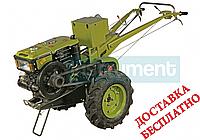 Мотоблок дизельный КЕНТАВР МБ 1010Е-3 в комплекте почвофреза и плуг