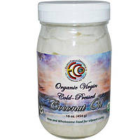 Earth Circle Organics, Органическое кокосовое масло холодного отжима, 16 унций (454 г)