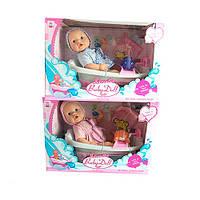 Пупс в ванной с аксессуарами Baby Doll (Беби Долл, Беби Борн), 2 вида