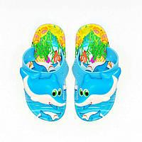 "Детские шлепанцы ""Акула"", пляжные пантолеты, сланцы  25-32 рр."