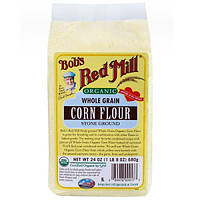 Bobs Red Mill, Органическая цельнозерновая кукурузная мука, 24 унции (680 г)