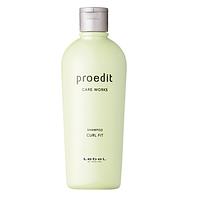 Lebel Proedit Curl Fit - восстанавливающий шампунь для тонких, сухих, непослушных и вьющихся волос, 300 мл