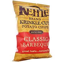 Kettle Foods, Рифленые картофельные чипсы с классическим вкусом барбекю, 13 унций (369 г)