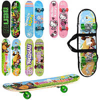 Скейтборд, доска, скейт детский 60*15 см, цвета в ассортименте