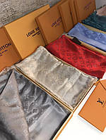 Шаль Louis Vuitton MONOGRAM SHINE серая