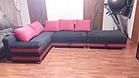 Перетяжка углового дивана в гостиную