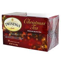Twinings, Рождественский чай, черный чай высшего сорта, 20 пакетиков, 1.41 унций (40 г)