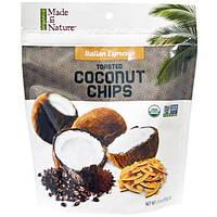 Made in Nature, Органические поджаренные кокосовые чипсы, итальянский эспрессо, 3,0 унции (85 г)