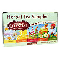 Celestial Seasonings, Набор травяных чаев, без кофеина, 5 вкусов, 18 чайных пакетиков, 1,0 унция (30 г)