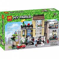 Конструктор Майнкрафт Minecraft Lele 33038 Домик в городе 3в1: 566 деталей