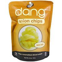 Dang Foods LLC, Луковые чипсы, морская соль, 2,3 унции (65 г)