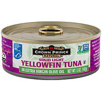 Crown Prince Natural, Yellowfin Tuna, Solid Light, In Extra Virgin Olive Oil, 5 oz (142 g)