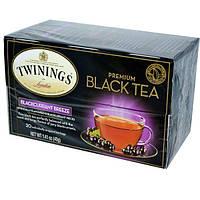 Twinings, Премиум Черный чай, черная смородина 20 чайных пакетиков, 1.41 унции (40 г)
