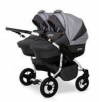Детская коляска для двойни Verdi Twin 02 графит/ серый