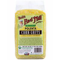 Bobs Red Mill, Organic, полента, кукурузная крупа, 24 унции (680 г)