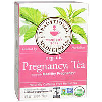 Traditional Medicinals, Органический чай для беременных, не содержит кофеин, травяной чай, 16 упакованных чайных пакетиков, .99 унций (28 г)