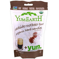 YumEarth, Organic Hard Candies, Roadside Root Beer, 3.3 oz (93.5 g)