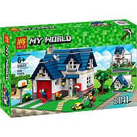 Конструктор Майнкрафт Minecraft Lele 33037 Загородный дом 3в1: 539 деталей
