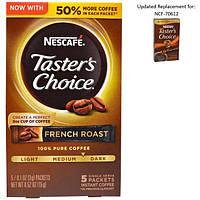 Nescaf, Тэйстерс Чойс, Растворимый Кофе, Френч Роаст, 5 пакетиков, 0.1 унций (3 гр) каждый