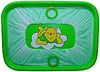 """Манеж детский игровой KinderBox""""солнышко""""(зеленый мишка)"""
