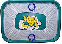 """Манеж детский игровой KinderBox""""солнышко""""(бирюзовый мишка)"""