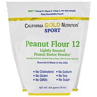 California Gold Nutrition, CGN, Порошок арахисовой пасты, 12% жира, без глютена, 16 унций (454 г)
