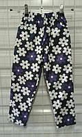 Штаны детские, брюки джинс на девочку с принтом 92-116 см