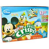 Brothers-All-Natural, Disney, Набор чипсов из различных фруктов, 12 порционных пакетиков, 0.35 унций (10 г) каждый