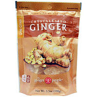 The Ginger People, GinGins, кристаллизированный имбирь, 3,5 унций (100 г)