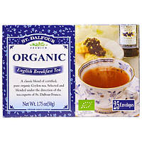 St. Dalfour, Органический чай English Breakfast, 25 пакетиков, 50 г