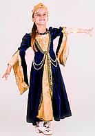 Придворная дама фрейлина №3 в синем прокат карнавального костюма