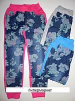Брюки, штаны для девочек с цветочным принтом Active Sports, 134-164 рр.