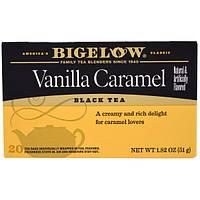 Bigelow, Черный чай, Ванильная карамель, 20 чайных пакетиков, 1,82 унции (51 г)