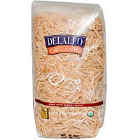 DeLallo, Орзо № 65, 100% органическая паста из цельной пшеницы, 16 унций (454 г)