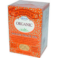 St. Dalfour, Натуральный чай из золотистых персиков, 25 пакетиков, 1.75 унций (50 г)