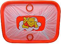 """Манеж детский игровой KinderBox""""солнышко""""(оранжевый мишка)"""