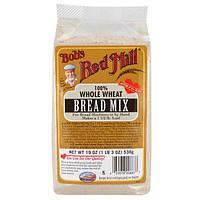 Bobs Red Mill, Смесь для выпечки хлеба, 100% цельная пшеница, 19 унций (538 г)