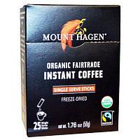 Mount Hagen, Органический растворимый кофе (товар справедливой торговли), 25 пакетиков, 1,76 унции (50 г)