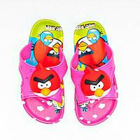 Детские шлепанцы Angry birds, пляжные пантолеты, сланцы  25-32 рр.