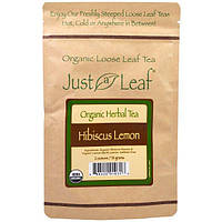 Just a Leaf Organic Tea, Loose Leaf, Herbal Tea, Hibiscus Lemon, 2 oz (56 g)