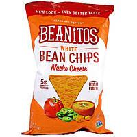Beanitos, Белые фасолевые чипсы, со вкусом сыра начо, 6 унций (170 г)