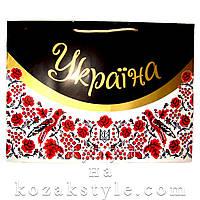 """Подарунковий пакет """"Український колорит"""" (30х40х12)"""