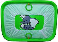 """Детский манеж игровой KinderBox""""солнышко""""(зеленый слоник)"""