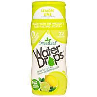 Wisdom Natural, Water Drops, улучшитель воды со стевией, лимон-лайм, 2,1 жидких унции (64 мл)
