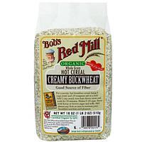 Bobs Red Mill, Натуральная цельнозерновая горячая каша, густая гречневая крупа, 18 унций (510 г)